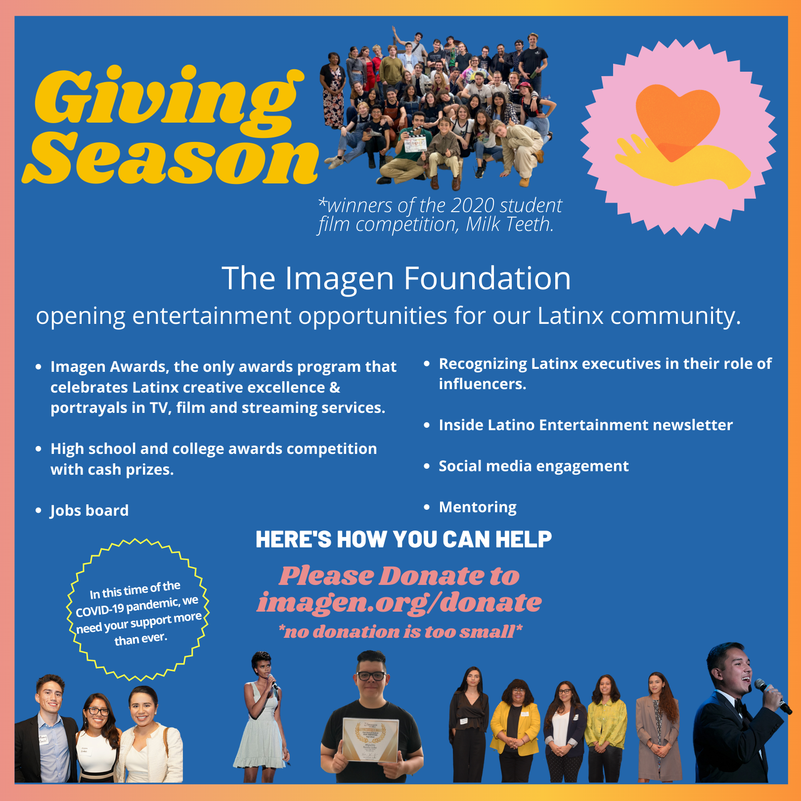 Please consider making a donation to the Imagen Foundation